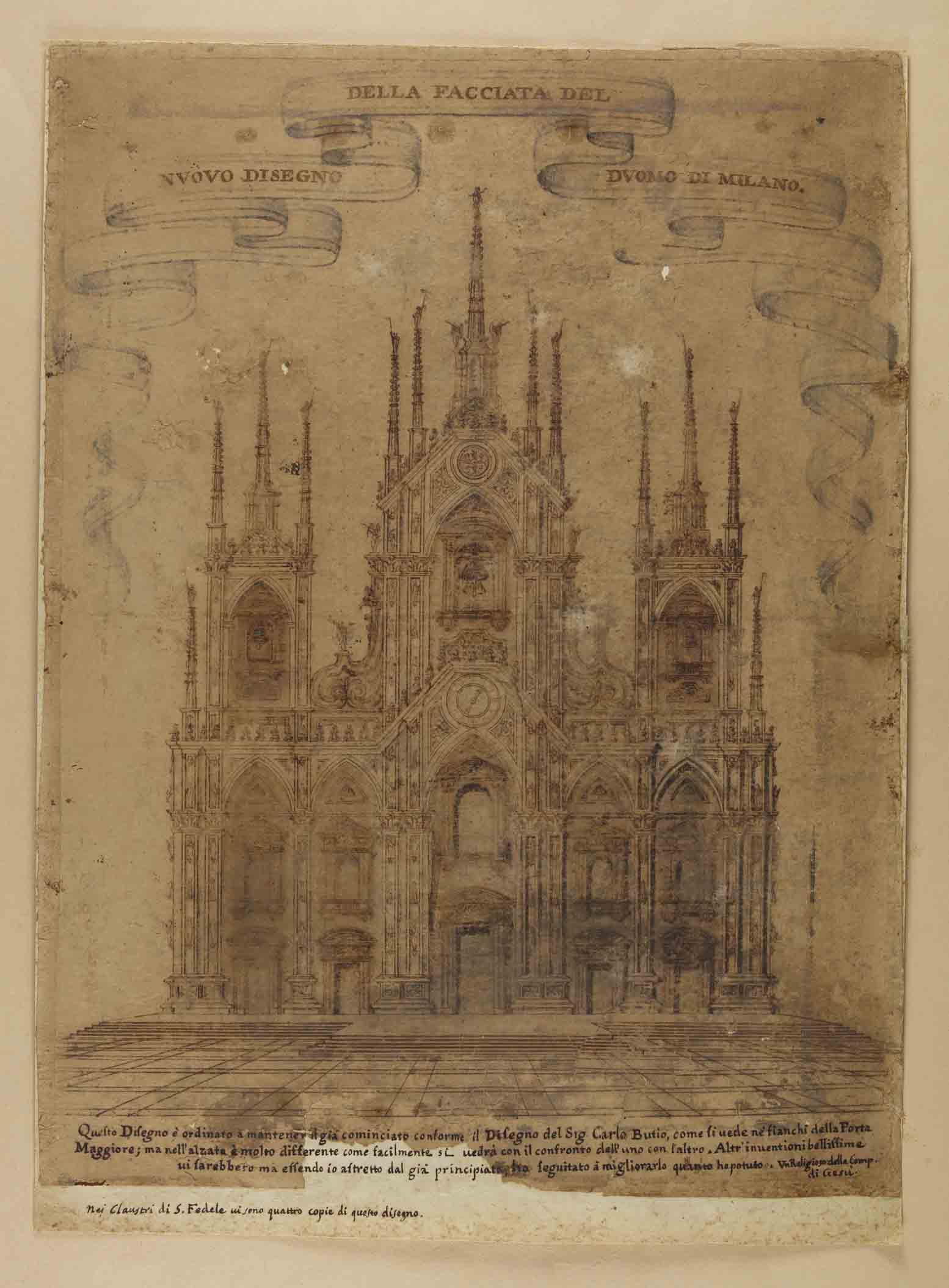 Corpus dei disegni di architettura duomo di milano for Disegno del piano di architettura